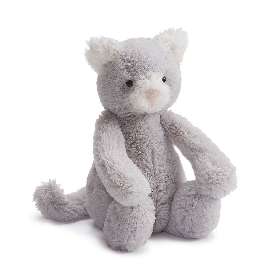 Jelly Cat Stuffie - Bashful Grey Kitty - Medium