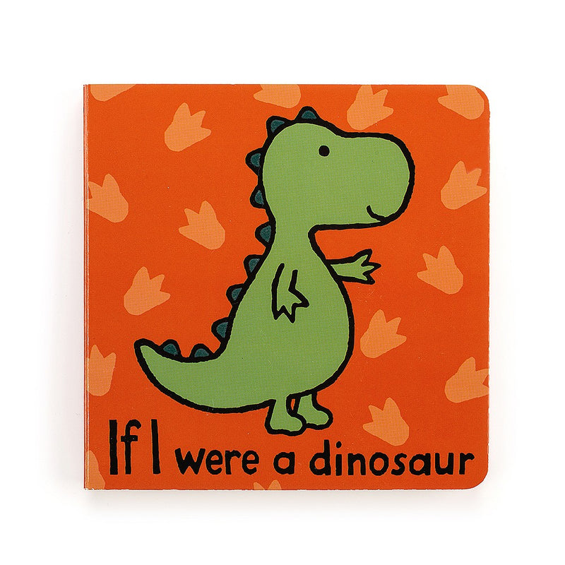 Jelly Cat Board Book - If I Were A Dinosaur