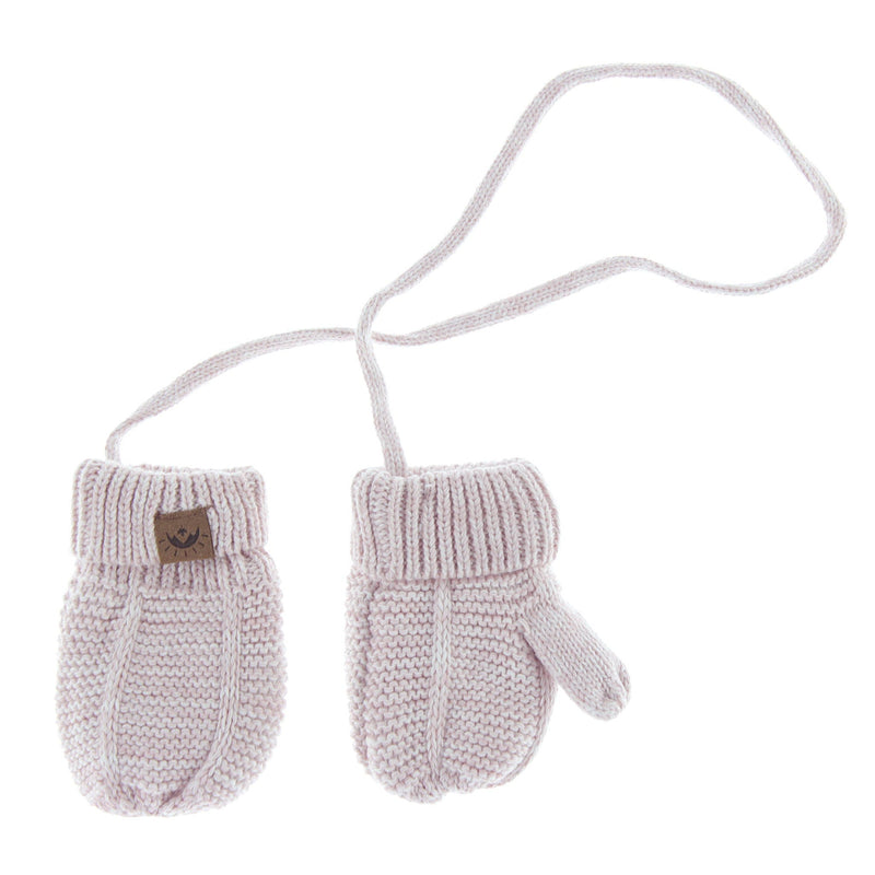 Calikids Knit Baby Mitts - Ballet Pink