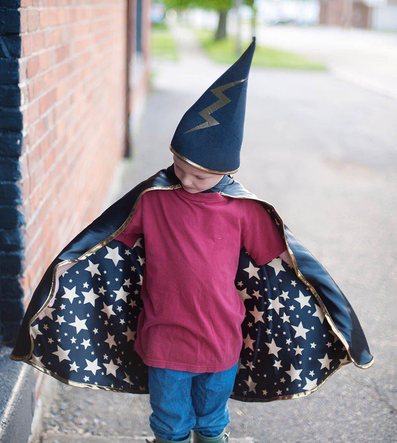 Rev Wizard Cape/Hat Black M