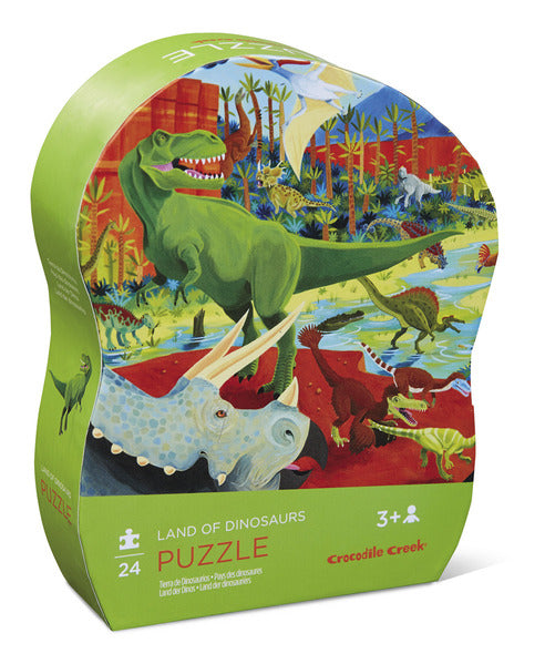 Puzzle 24pc land of dinos