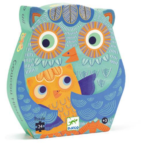 Puzzle Silhouette 24pc Owl
