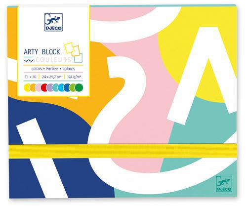 Arty Block Coloured Paper