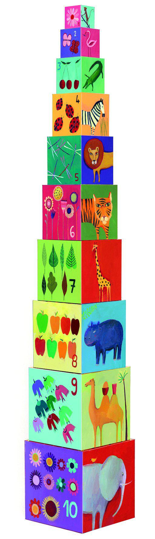 Stacking Cubes Nature Animals