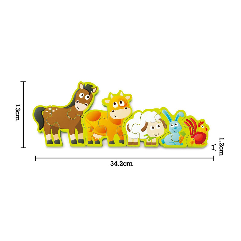 Hape Wooden Puzzle - Numbers & Farm Animals