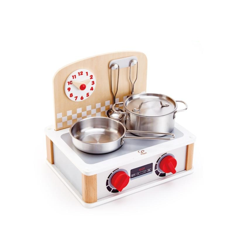 Hape Play Food - 2-in-1 Kitchen & Grill Set