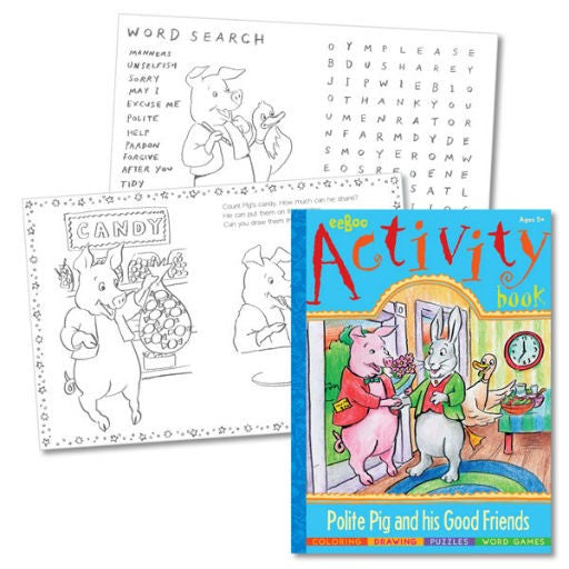 Activity Book Polite Pig Frien