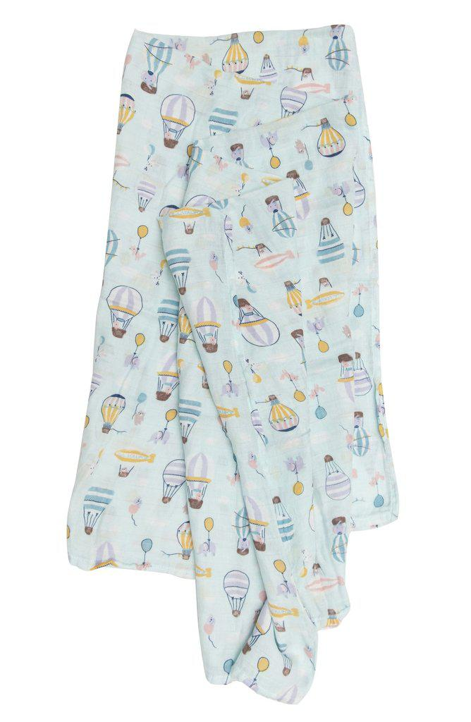 LouLou Lollipop Muslin Swaddle - Up Up Away