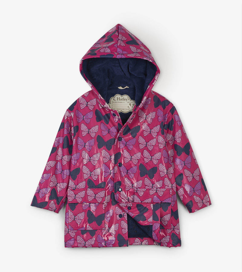 Hatley Classic Raincoat - Colour Changing - Spotted Butterflies