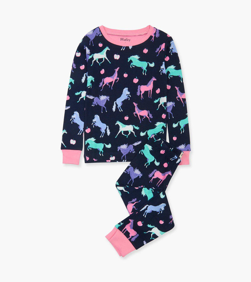 Hatley Organic Cotton Pajama Set - Happy Horses