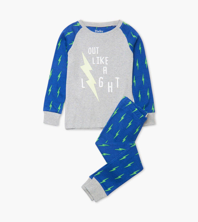 Hatley Organic Cotton Pajama Set - Lightning Bolts