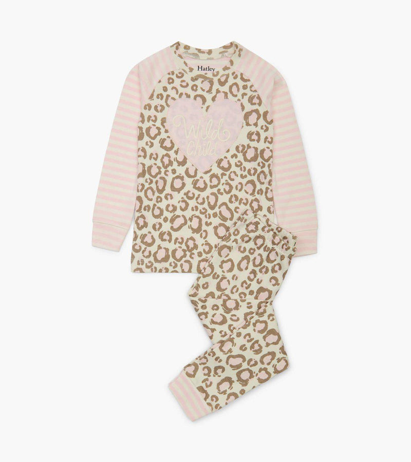 Hatley Organic Cotton Pajama Set - Painted Leopard