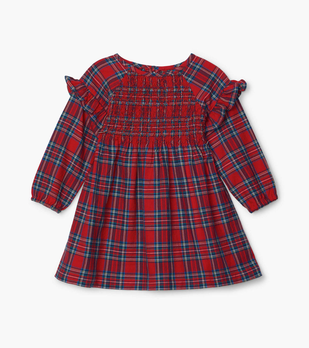 Hatley Baby Smock Dress - Holiday Plaid