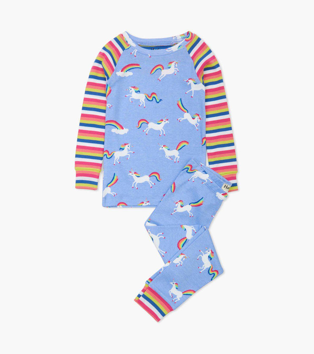 Hatley Organic Cotton Pajama Set - Rainbow Unicorns