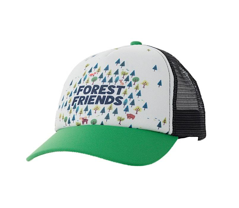 Ambler Kids Cap - Forest Friends - Green