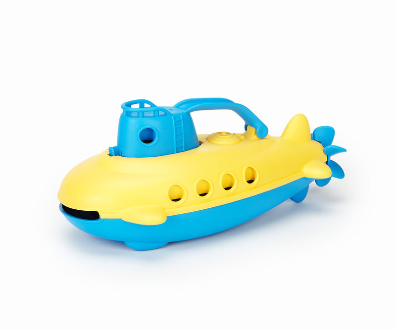 Green Toy Submarine Blue