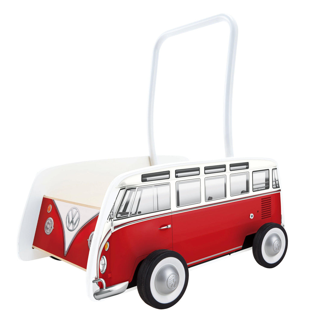 Hape Classical Bus Walker Red