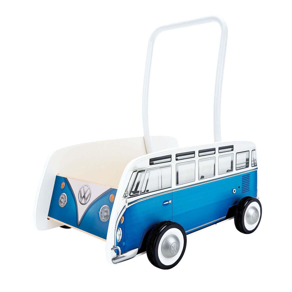 Hape Classical Bus Walker Blue