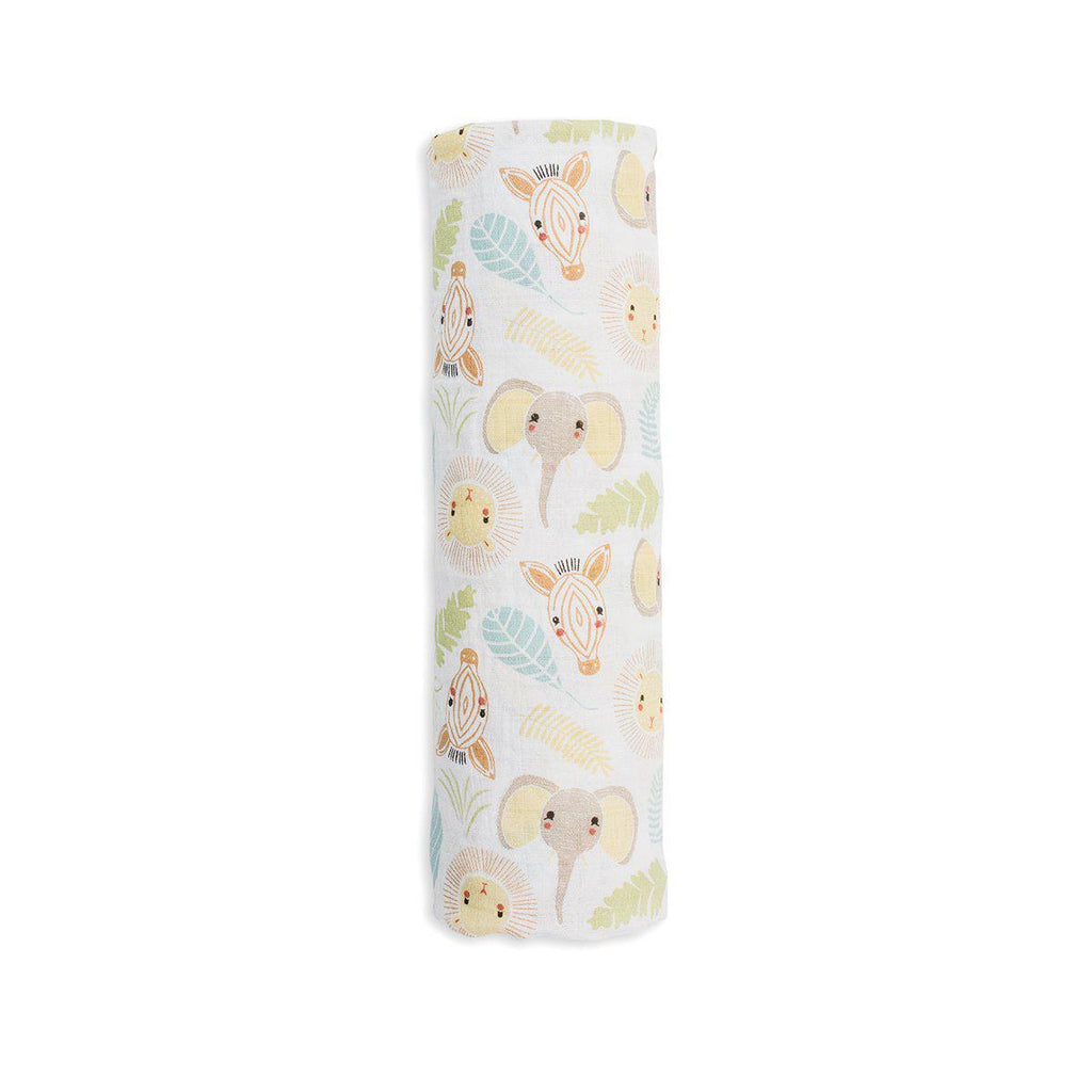 Lulujo Cotton Muslin Swaddling Blanket - Jungle