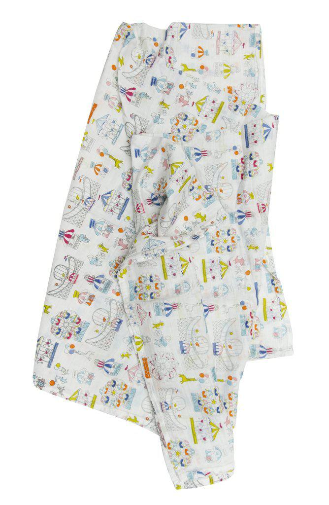LouLou Lollipop Muslin Swaddle - Carnival Fun
