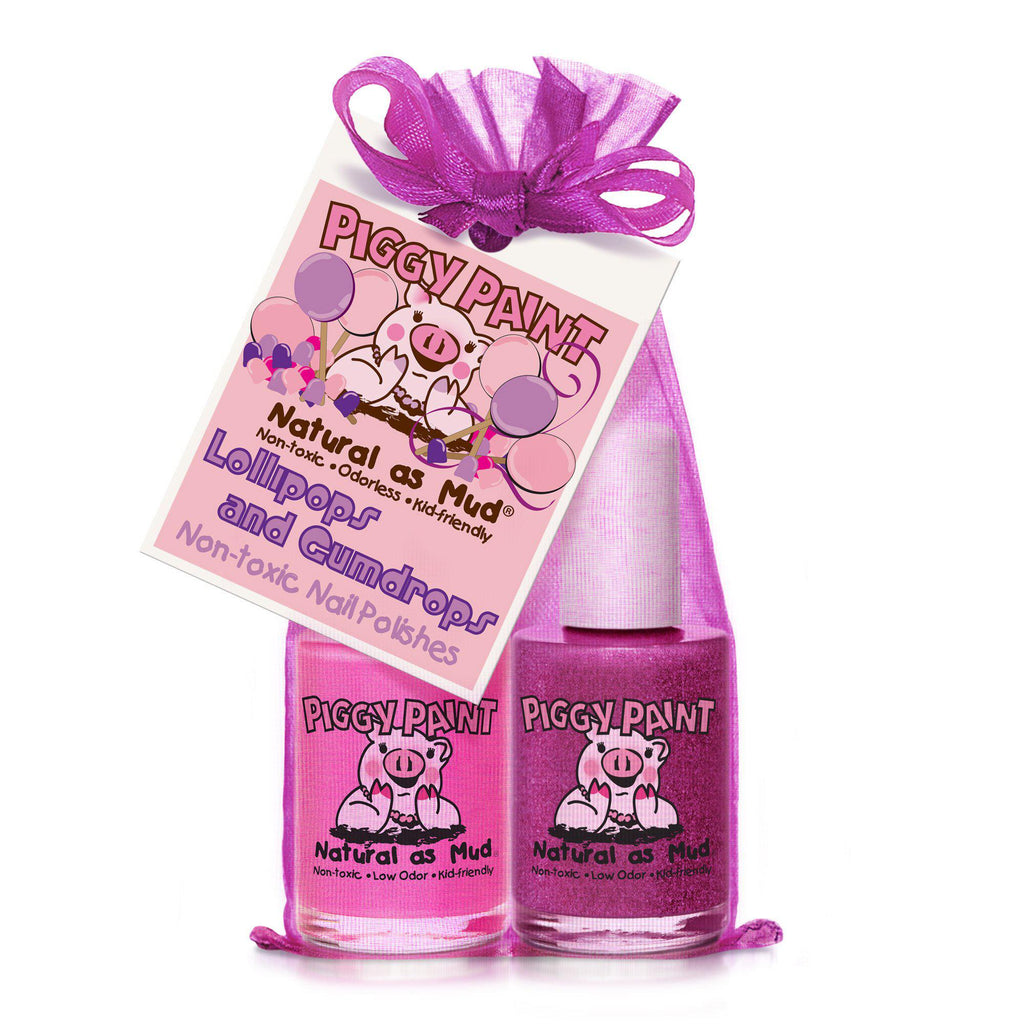 Piggy Paint Non-Toxic Nail Polish - 2 Pack - Lollipops & Gumdrops
