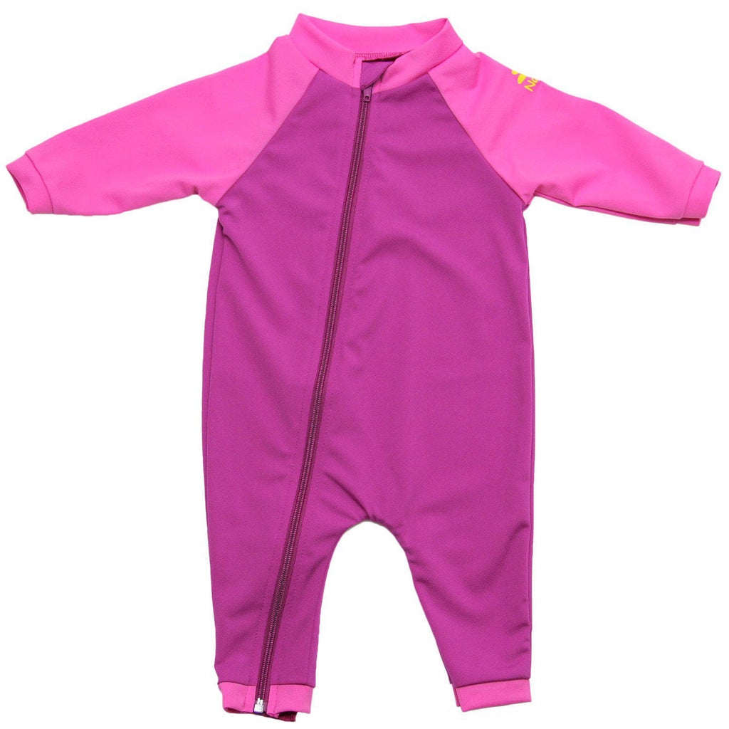 No Zone Tahiti Full-Zip Sunsuit - Fuschia/Bahama