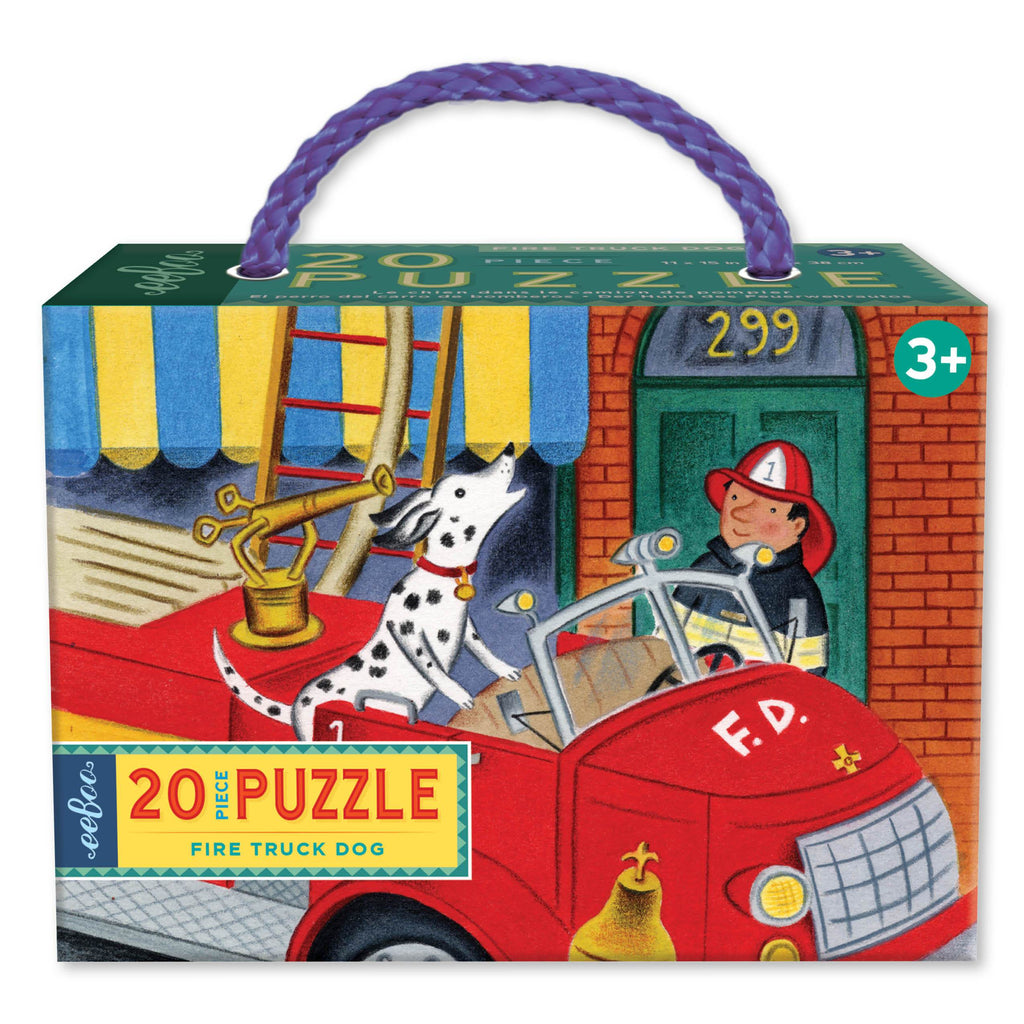 Eeboo Puzzle - 20pc Fire Truck Dog