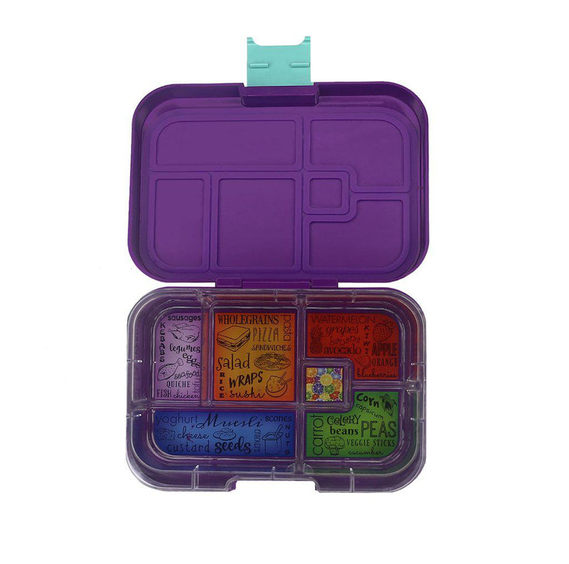 Munchbox Container - Maxi 6 - Purple Peacock