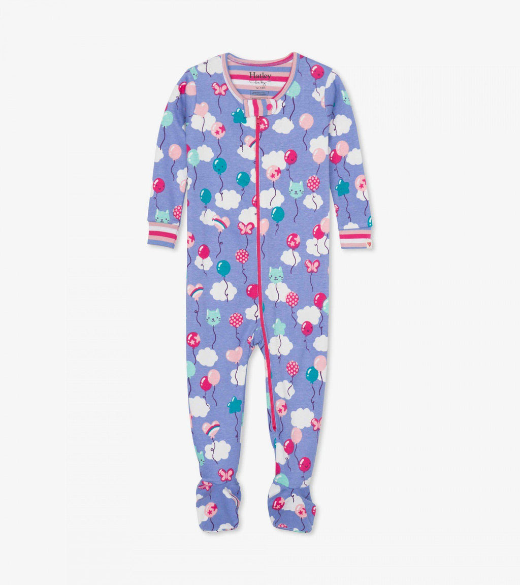 Hatley Baby Organic Cotton Footed Coverall - Party Balloons