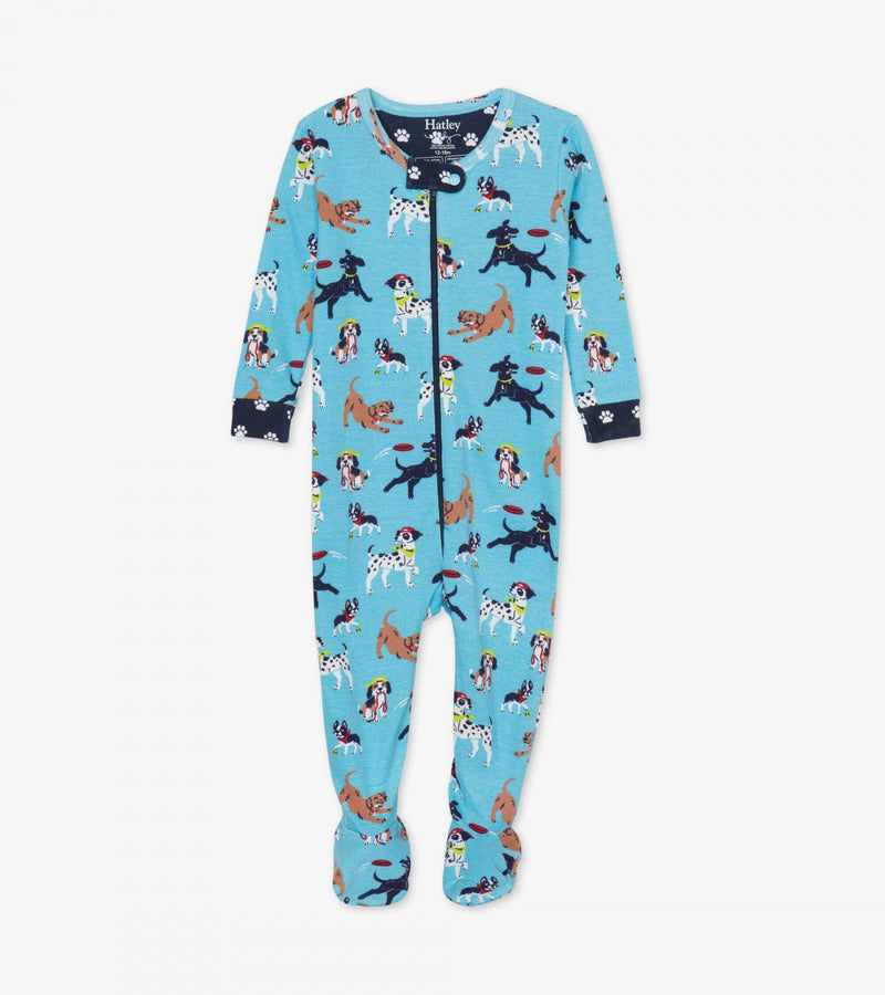 Hatley Baby Organic Cotton Footed Coverall - Playful Pups