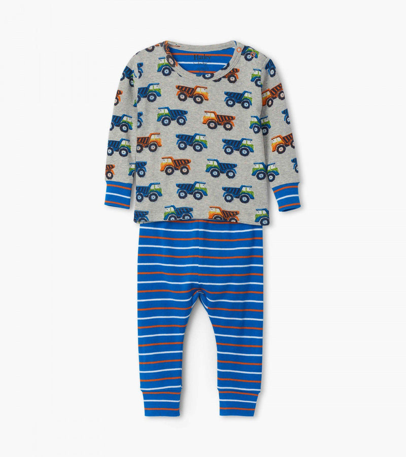 Hatley Baby Organic Cotton Pajama Set - Dump Trucks