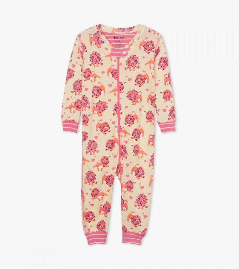 Hatley Baby Organic Cotton Coverall - Lovely Lions