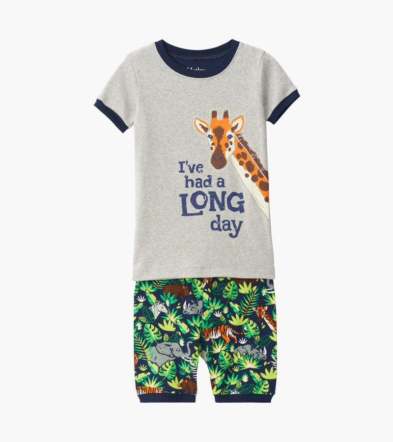 Hatley Organic Cotton Pajama Short Set - Jungle Safari