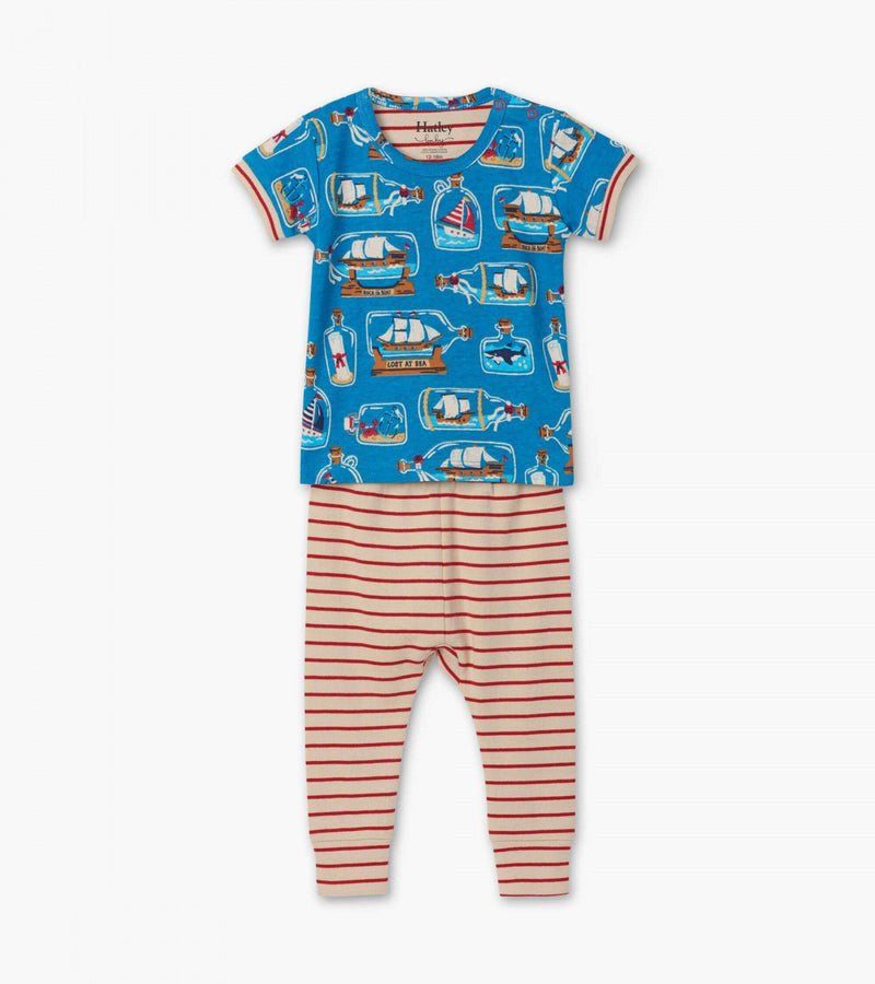 Hatley Baby Organic Cotton SS Pajama Set - Bottled Ships
