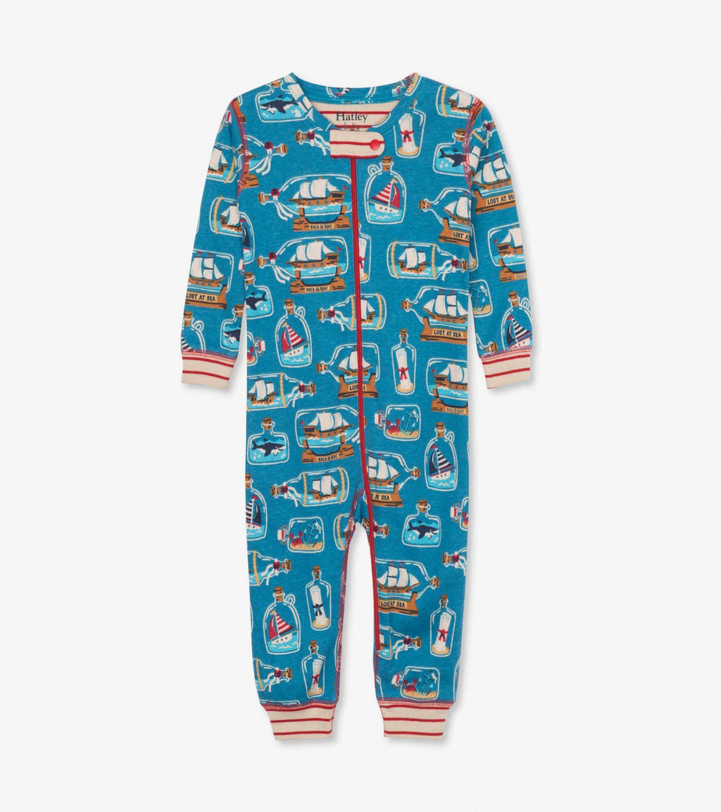 Hatley Baby Organic Cotton Coverall - Bottled Ships