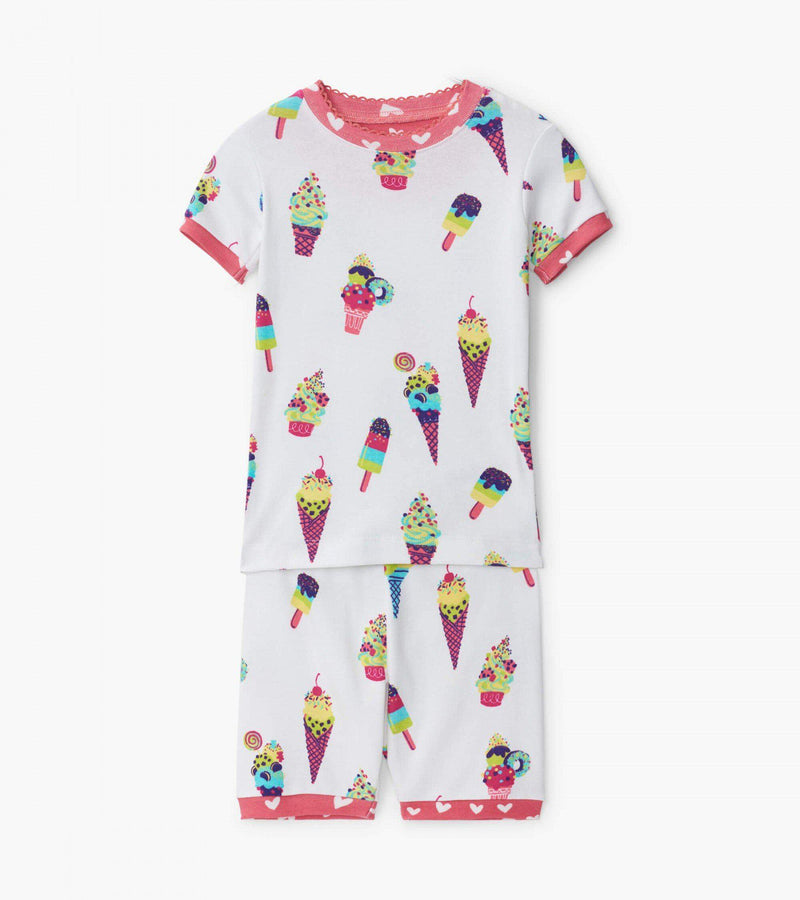 Hatley Organic Cotton Pajama Short Set - Ice Cream Cones