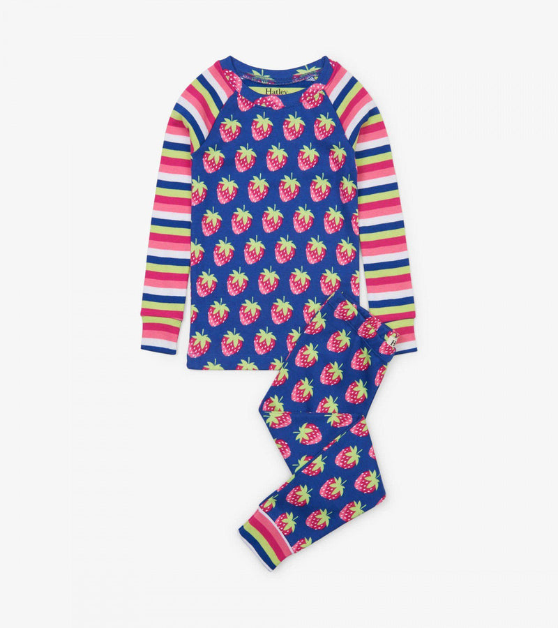 Hatley Organic Cotton Pajama Set - Strawberries