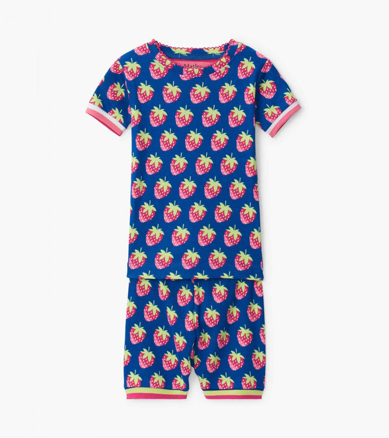 Hatley Organic Cotton Pajama Short Set - Strawberries