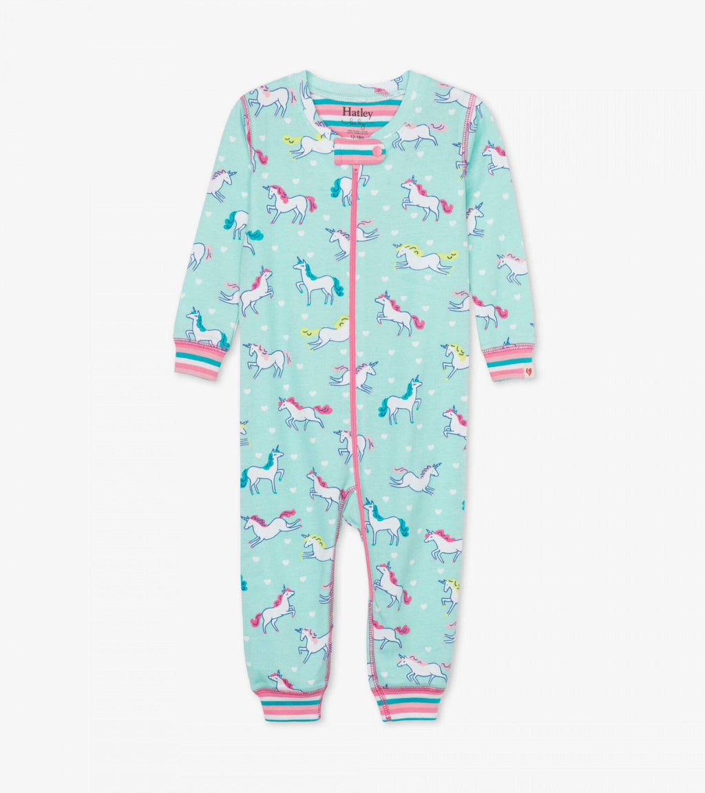 Hatley Baby Organic Cotton Coverall - Prancing Unicorns
