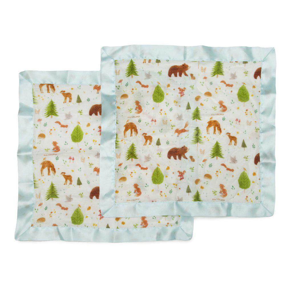 LouLou Lollipop Security Blanket 2pk - Forest Friends