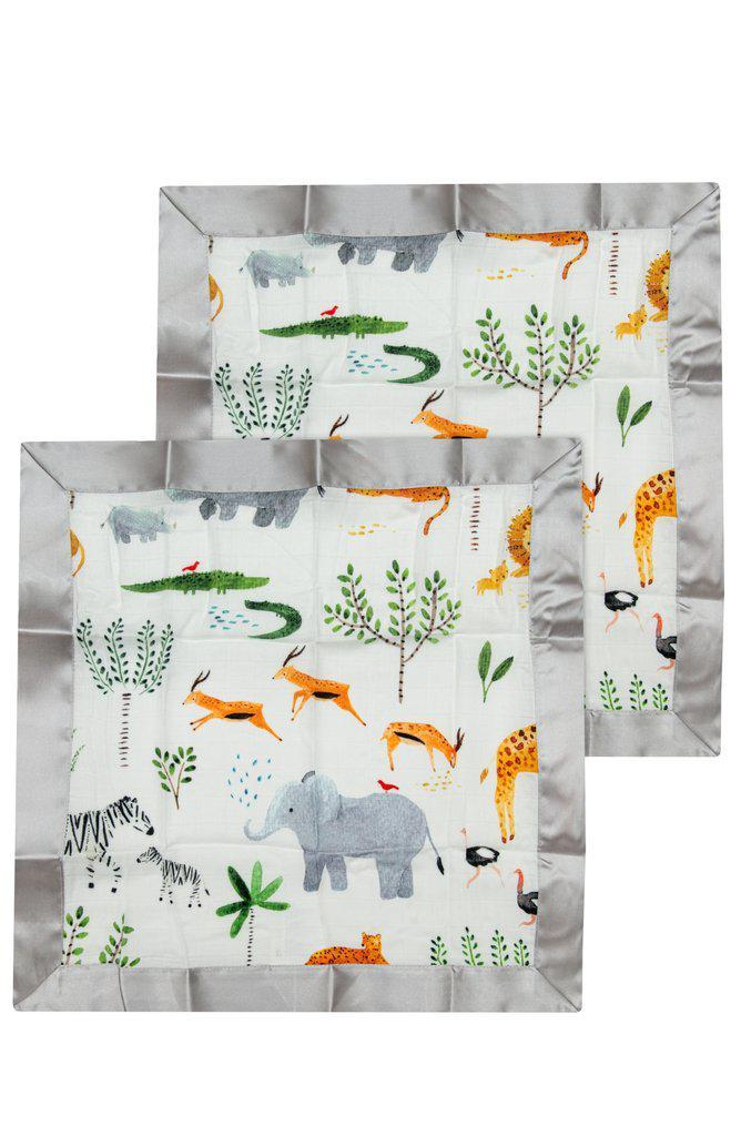 LouLou Lollipop Security Blanket 2pk - Safari Jungle