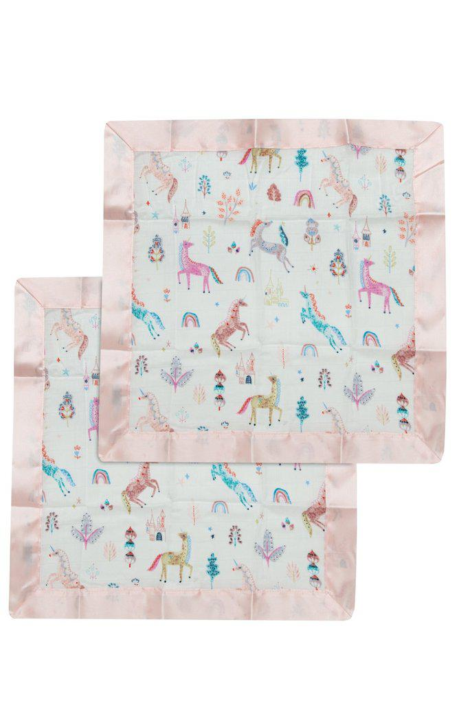 LouLou Lollipop Security Blanket 2pk - Unicorn Dream
