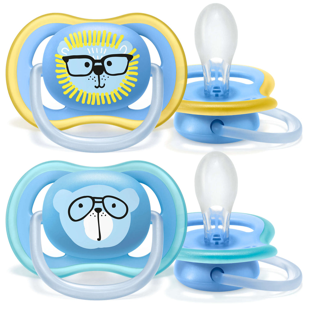 Philips Avent Ultra Air Pacifier - 18M+ - Blue/Yellow - 2pk