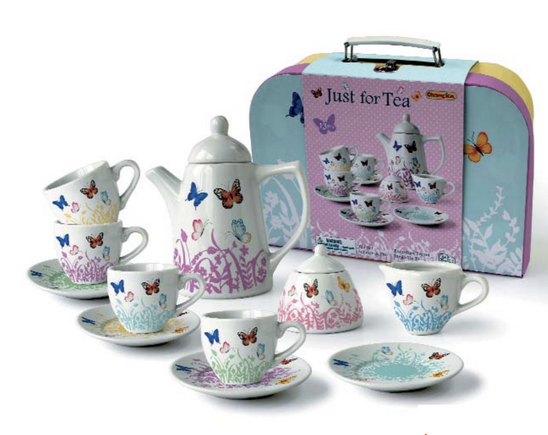 Childrens Butterfly Porcelain Tea Set