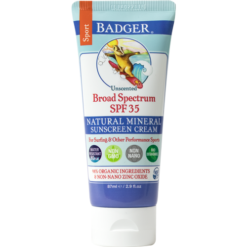 Badger Balm SPF 35 Sport Sunscreen Unscented