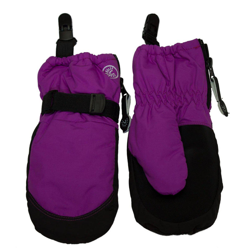 Calikids Winter Mitts - Short Cuff Zip - Violet Cactus
