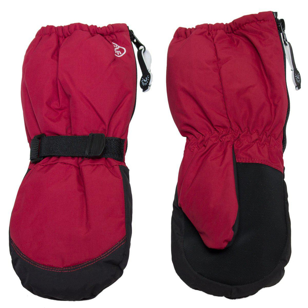 Calikids Winter Mitts - Long Cuff Zip - Scooter Red