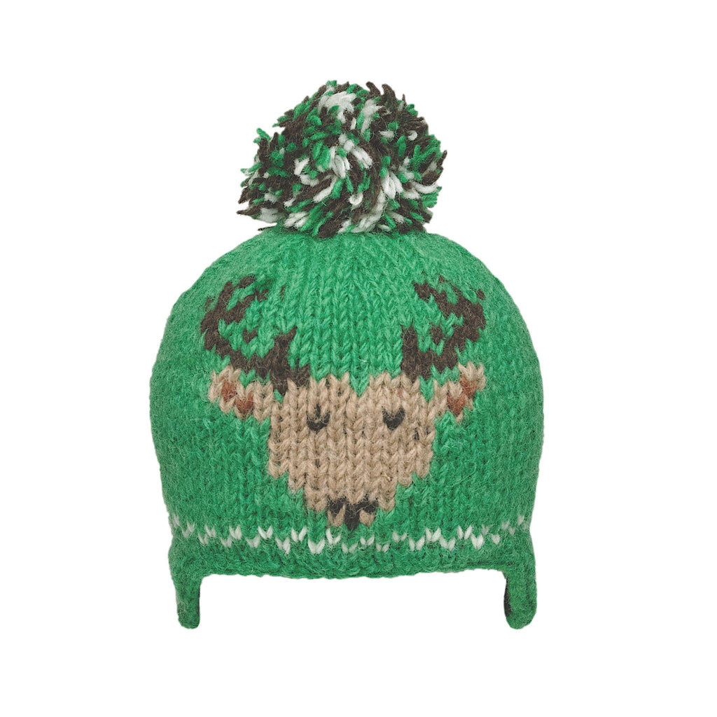 Ambler Kids Toque - Creatures - Deer - Green