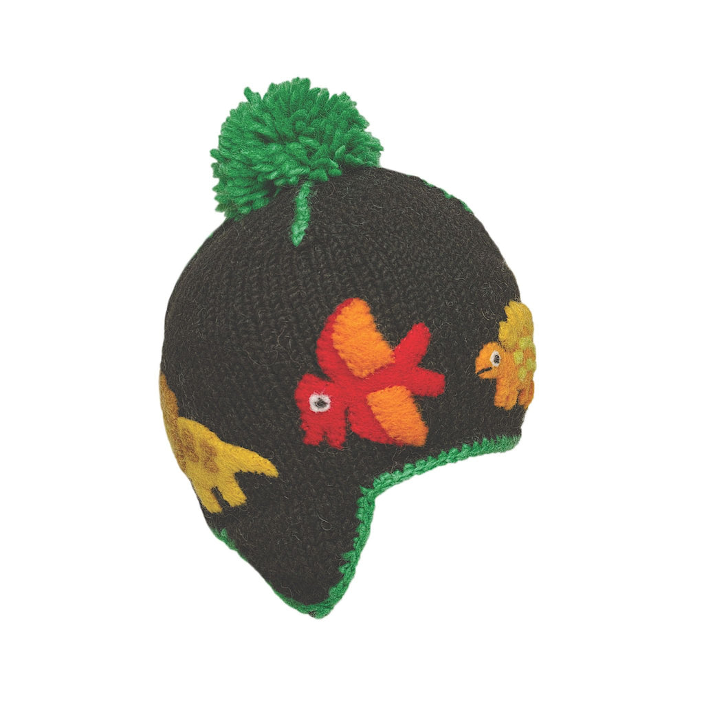 Ambler Kids Toque - Dino - Black