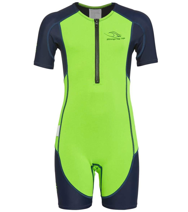 AQ Phelps Stingray HP Core Warmer Wetsuit - Bright Green/Navy Blue